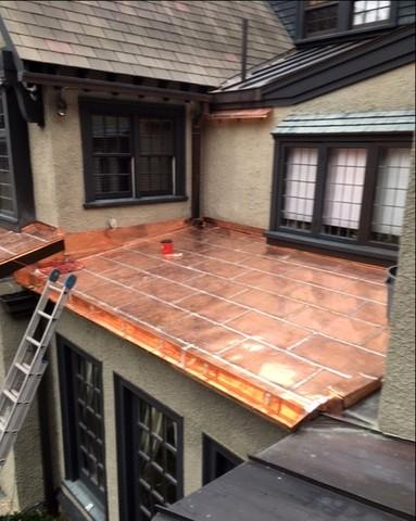 Copper Tile Roof in Belmont, MA - After Photo