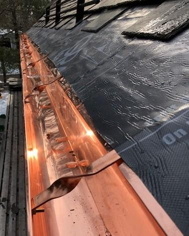 Copper Gutter Installation, Chestnut Hill, MA
