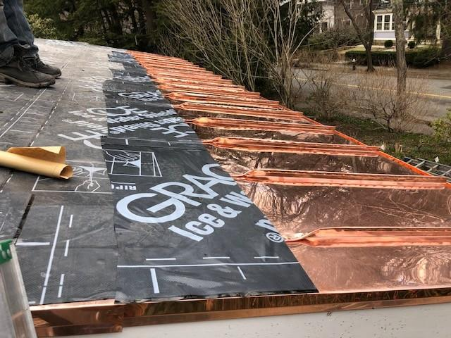 Copper Panel Installation on Shingle Roof in Chestnut Hill, MA - After Photo
