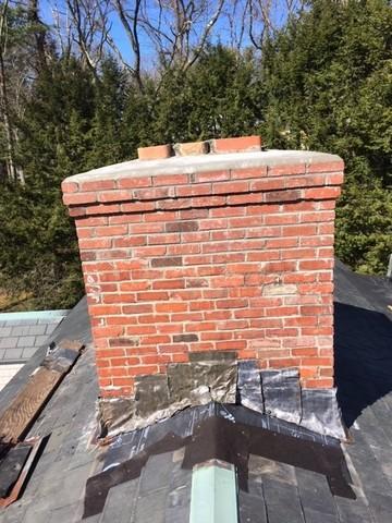Chimney Flashing Repair in Belmont, MA