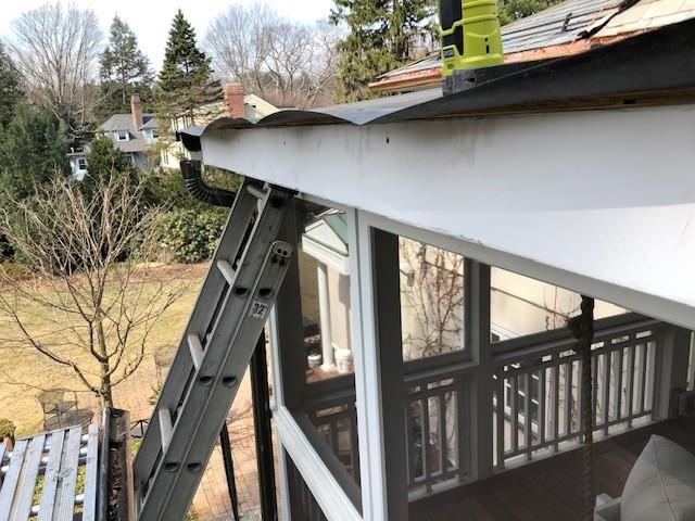 Rubber Roof and Copper Gutter Replacement in Chestnut Hill, MA