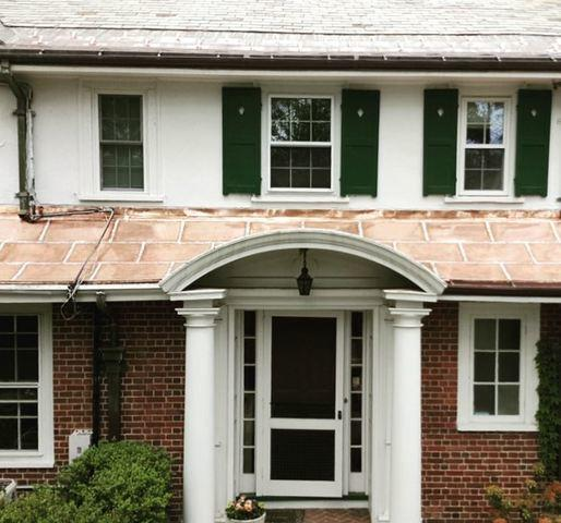 Slate to Copper Roof Conversion in Natick, MA - After Photo