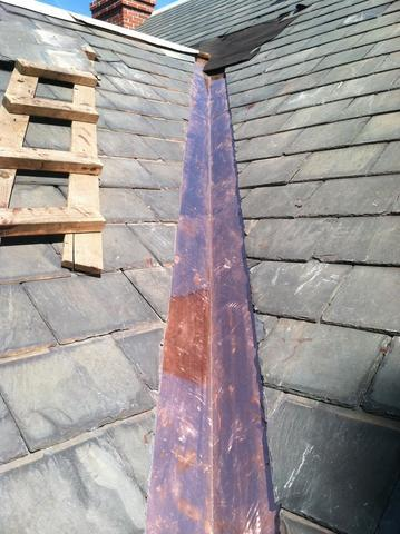Copper Valley on Slate Roof Installation in Wellesley, MA - After Photo