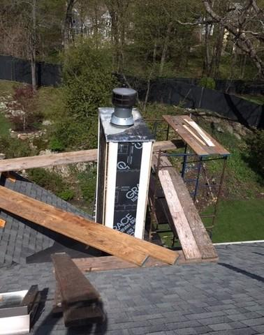 Chimney Cap and Siding Replacement in Watertown, MA