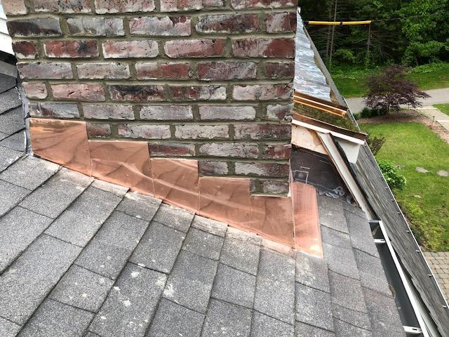 Chimney Flashing Replacement, Weston, MA