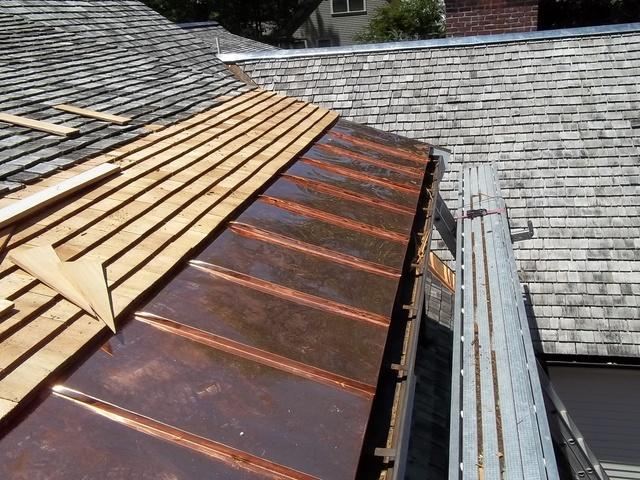 Copper Panel Installation with Cedar Shakes in Belmont, MA
