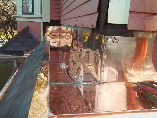 Custom Copper Flashing in Wellesley, MA - After Photo