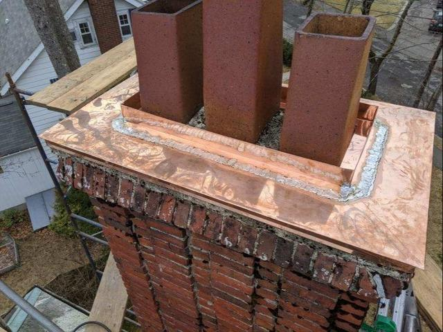 Copper Chimney Cap Installation in Waban, MA