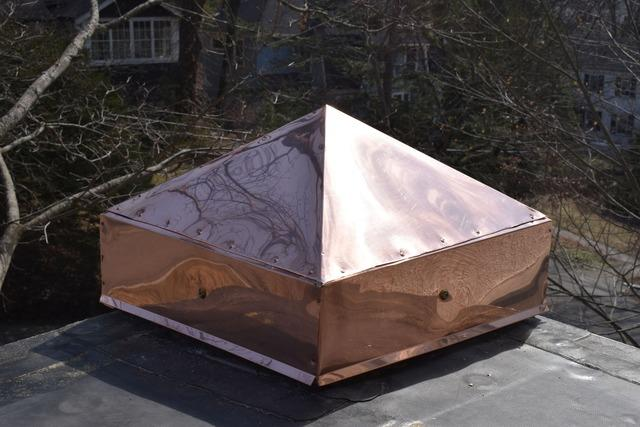 Copper Pediment in Newton, MA
