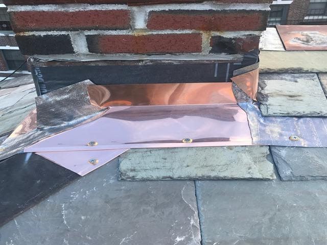 Chimney Flashing Repair in Reading, MA