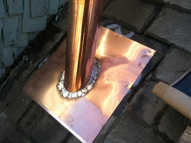 Copper Flashing Replacement Good for the Next 50 Years