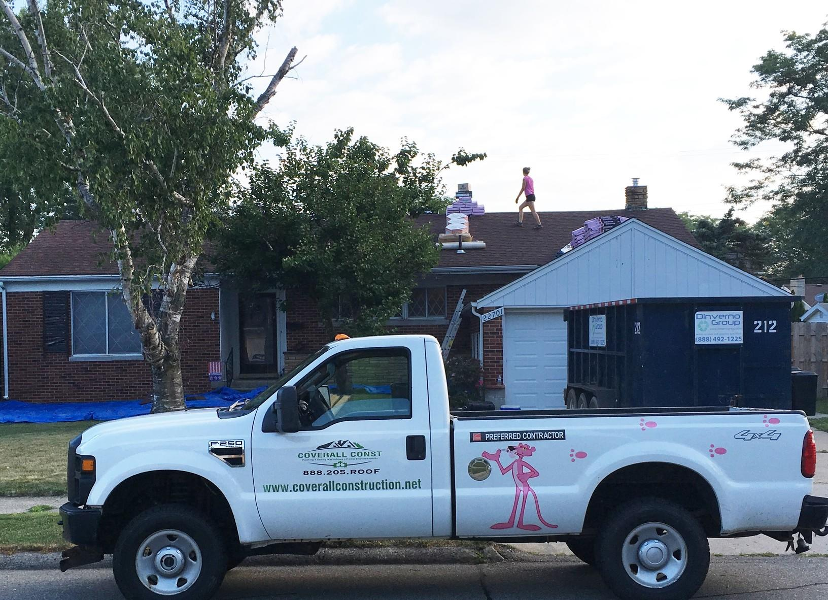 Roof Replacement in Saint Clair Shores, Michigan - Before Photo