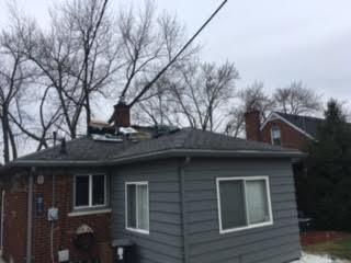 Roof Repair in St. Clair Shores MI - Before Photo