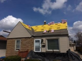 Roof Replacement in Allen Park - Before Photo
