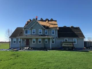 Roof Replacement in China twp - Before Photo