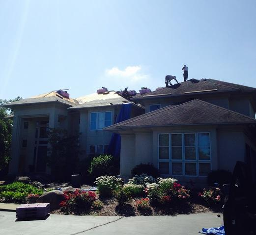 Roof Replacement on a Two Story in Bloomfield, Michigan