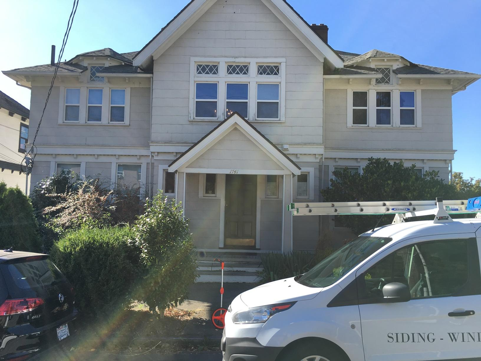 James Hardie Color Plus in Iron Grey in Seattle - Before Photo