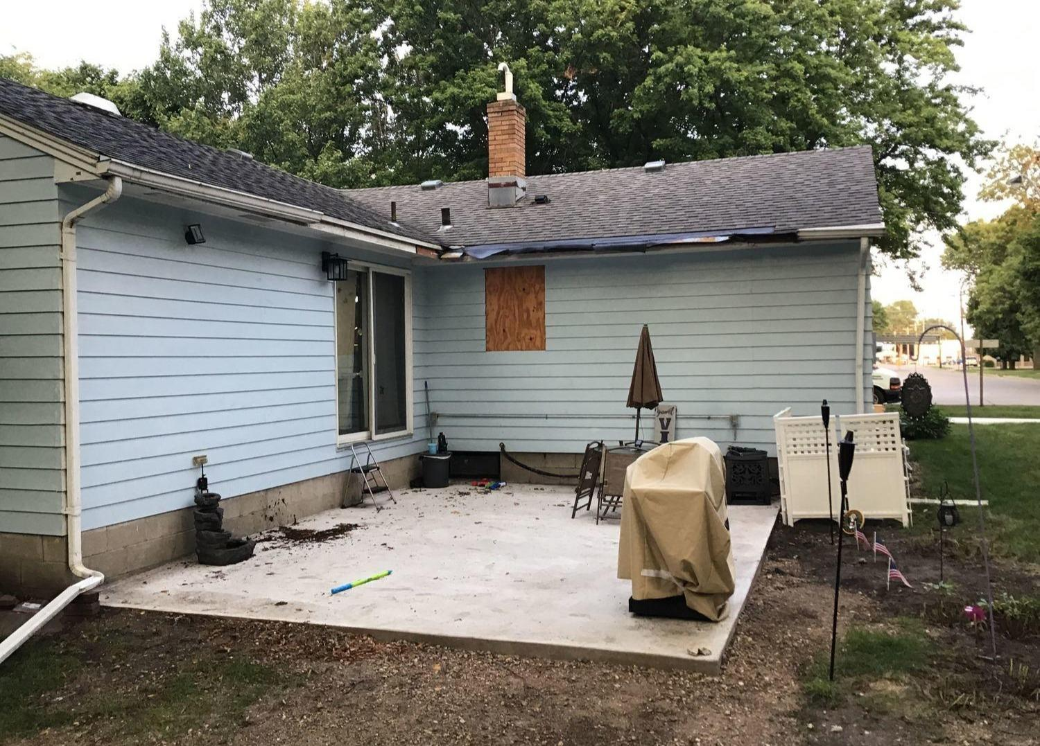 LeafGuard Before & After - 500 S Cherry St., Freeman SD, 57029 - Before Photo