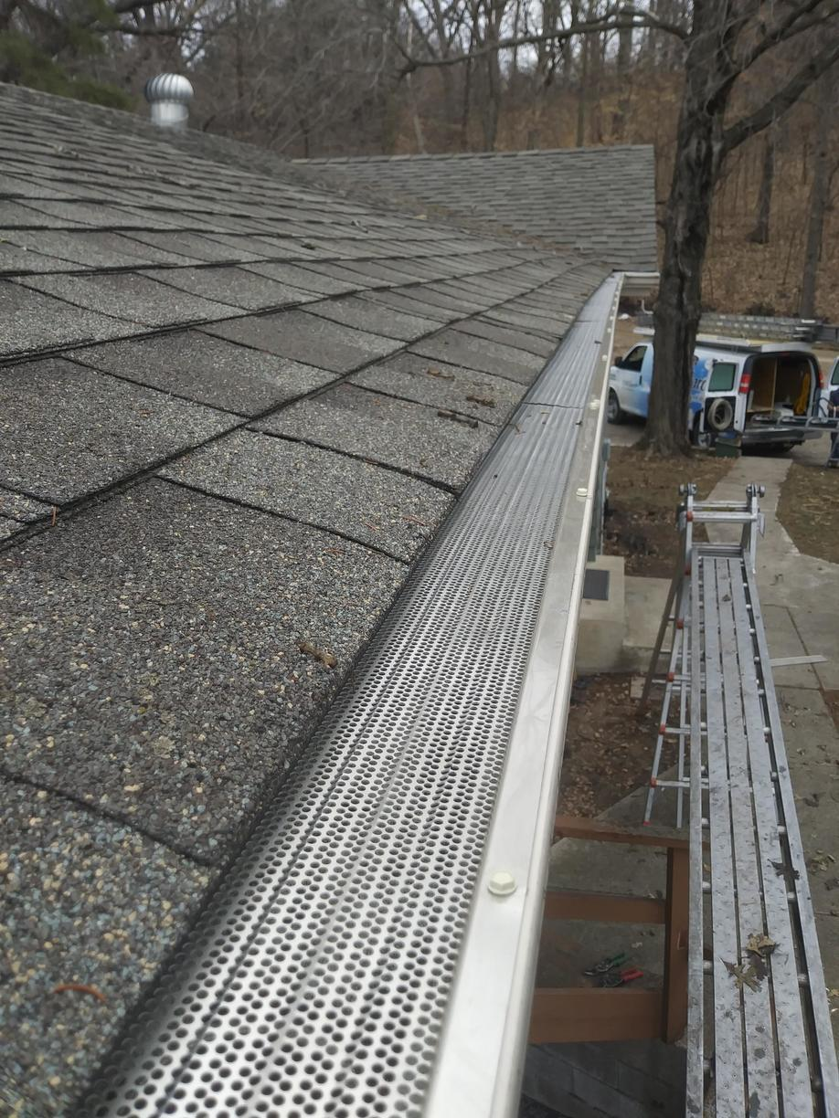 Gutter Screen Cover Installed in Maple Lake Minnesota - After Photo