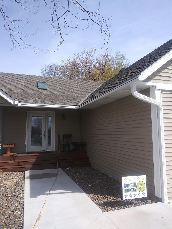 LeafGuard® Gutter Installation in Braham Minnesota - After Photo