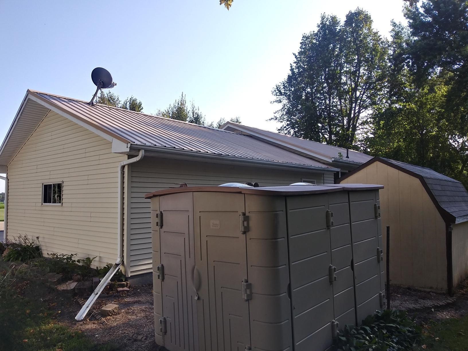 Gutter Replacement Brewster Minnesota - Before Photo