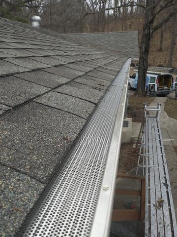 Gutter Screen Cover Installed in Maple Lake Minnesota