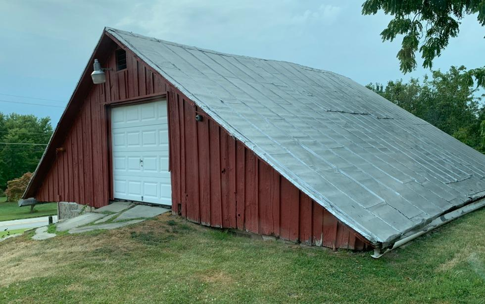 Corrugated Metal Roofing Panels Installed on this barn in Dillsburg, Pa - Before Photo