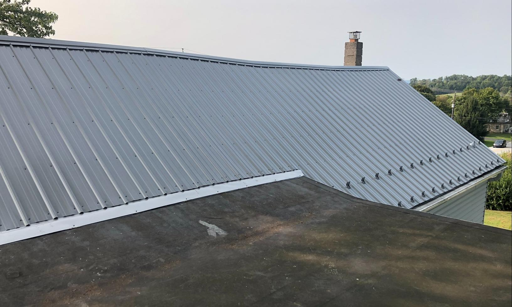 Corrugated Metal Roofing Panels Installed in Dillsburg, Pa - After Photo