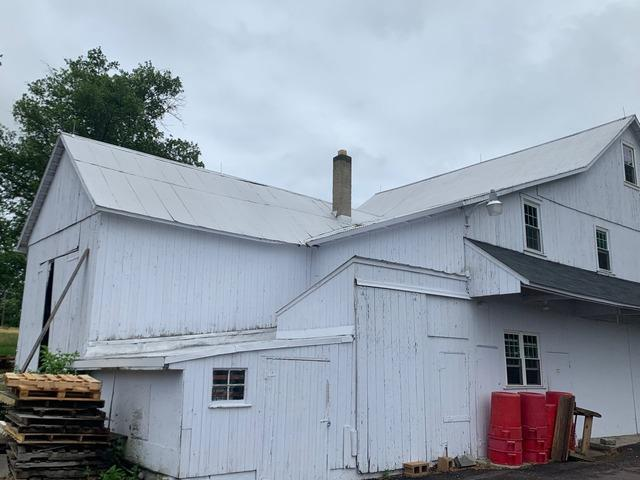 Corrugated Metal Roofing installed on this building in Doylestown, Pa
