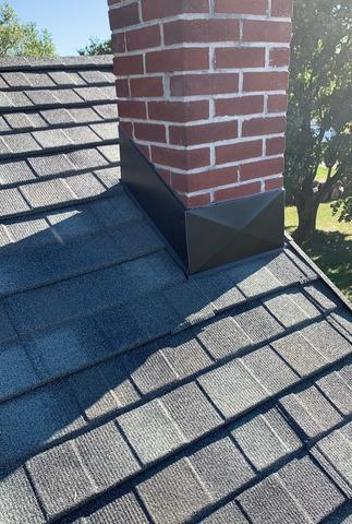 Chimnmey Flashing on a New Roof Install in Annville, Pa