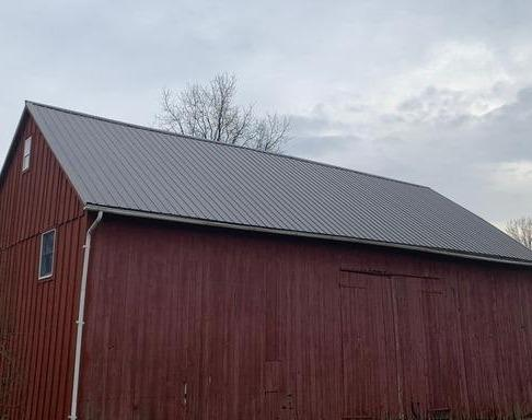 Coorugated Roofing Panels Install on this Barn Roof in Quakertown, Pa