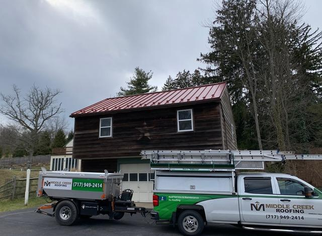 New Standing Seam Metal Garage Roof Installed in Chester Springs, PA