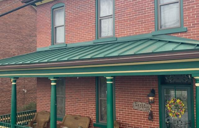 New Standing Seam Porch Roof in Myerstown, Pa