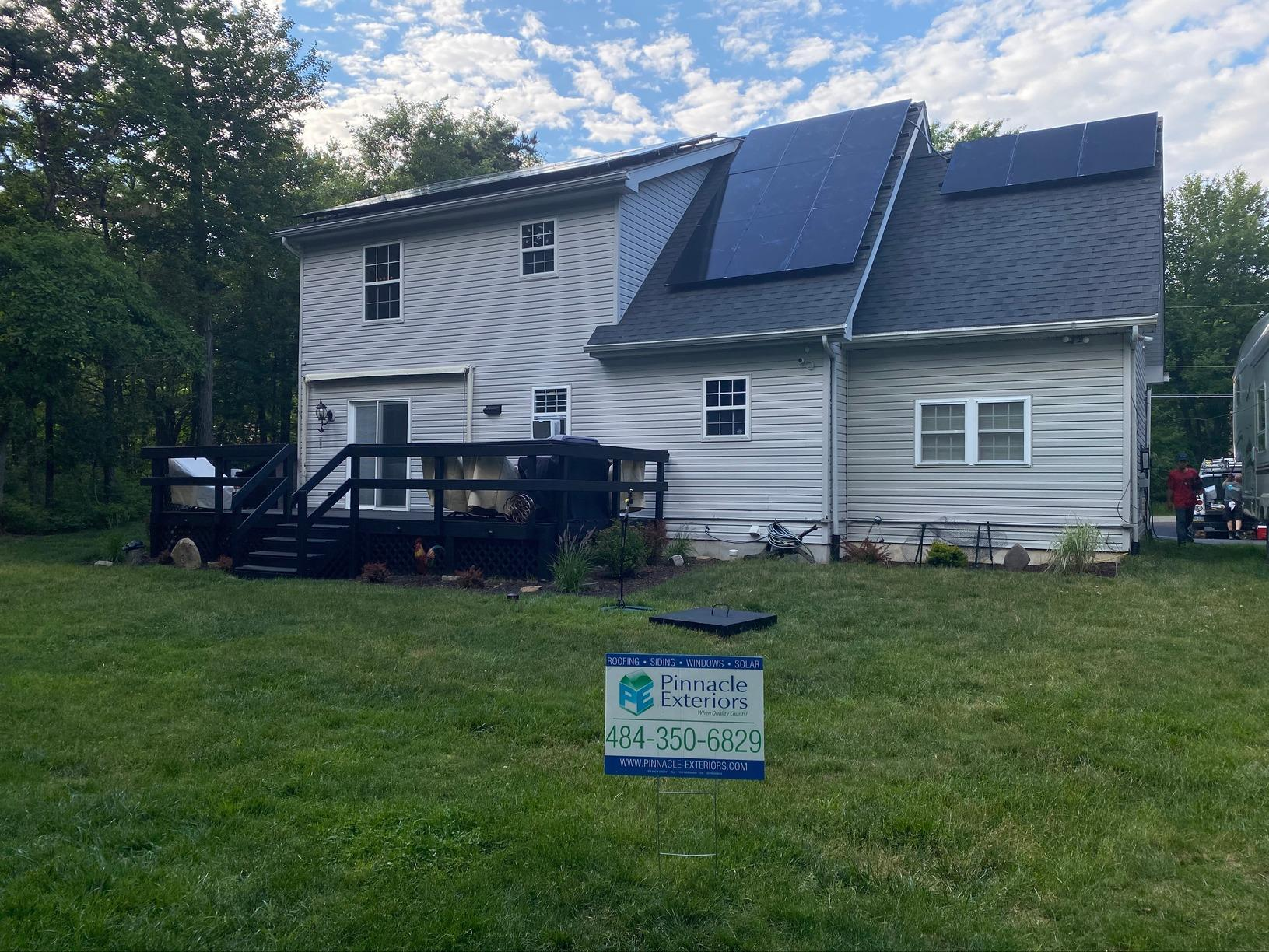 Solar Installation done in Long Pond, PA - After Photo