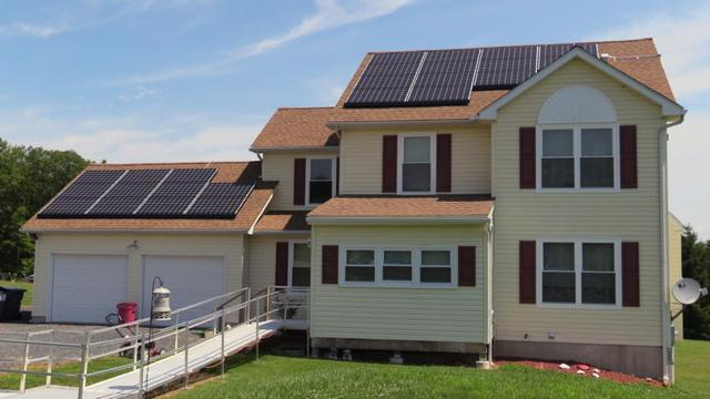 Solar on Top of Shingles, in Saylorsburg, PA