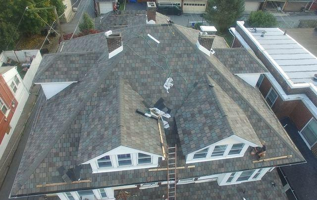 Slate Removal, StormMaster Slate Shingle Replacement, In Progress