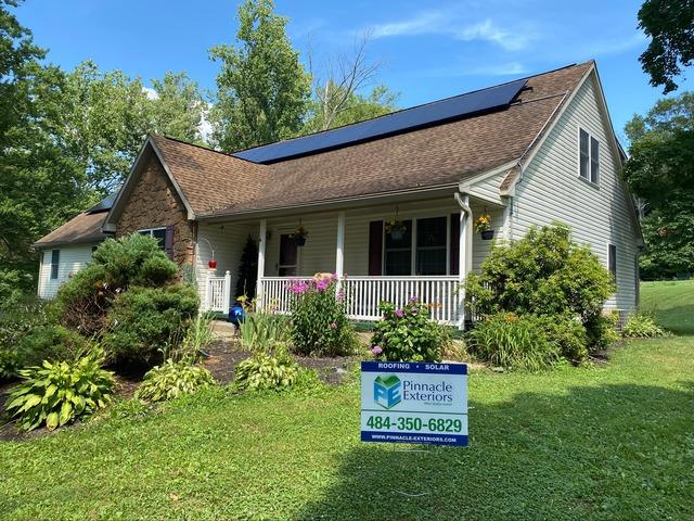 Joyce's solar Installation done in Fredericksburg, PA - After Photo