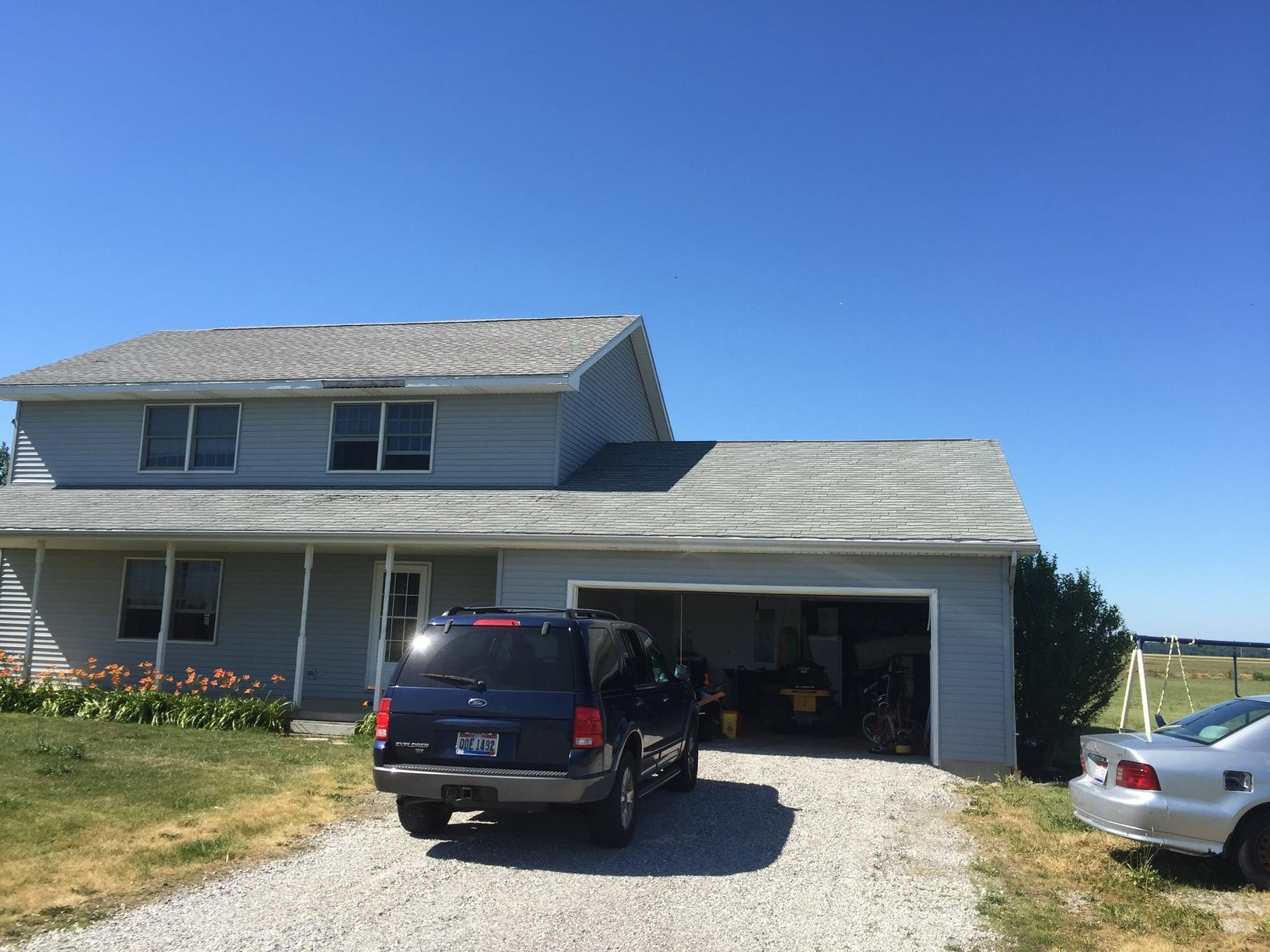 Roof Replacement in Cygnet, OH - Before Photo
