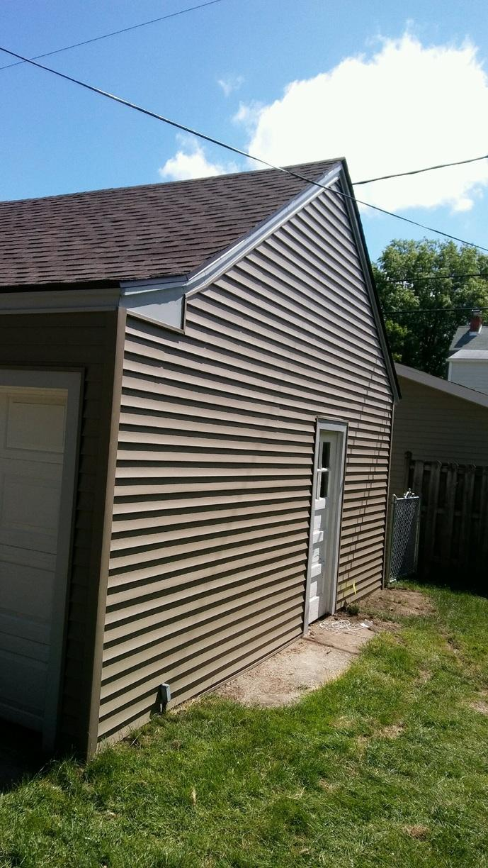 Fremont, OH Garage Siding Replacement - After Photo