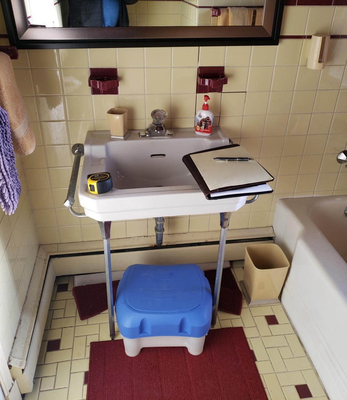 Bathroom Update in Defiance Ohio - Before Photo