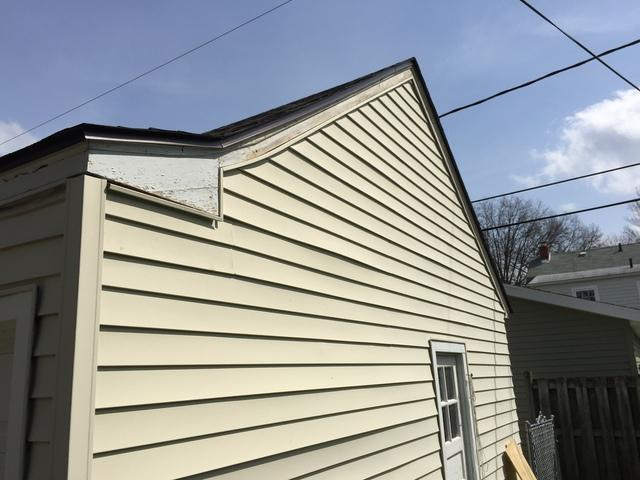 Fremont, OH Garage Siding Replacement - Before Photo
