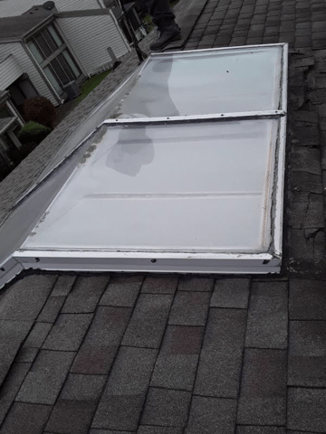 Over the Ridge Skylight Install in Maumee, OH - Before Photo
