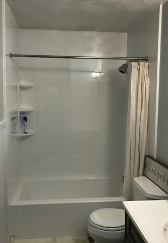 All White Acrylic Bathroom Remodel - After Photo