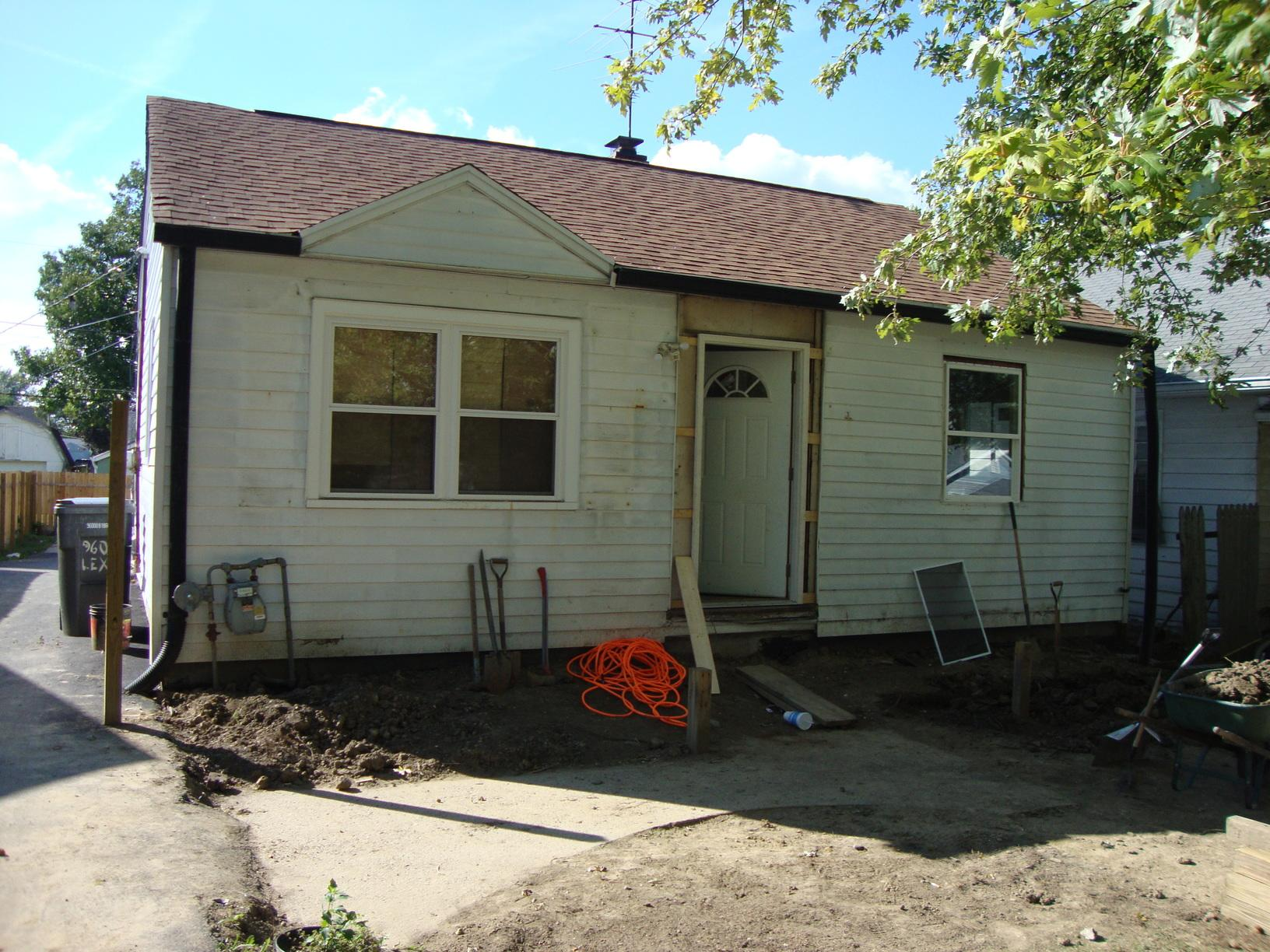 Siding Installation in Indianapolis, IN - Before Photo