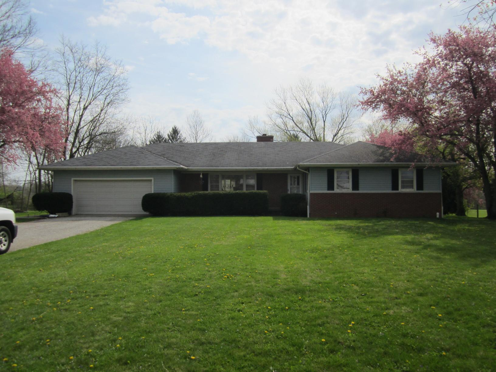 Roof and Gutter Installation in Crawfordsville, IN - Before Photo