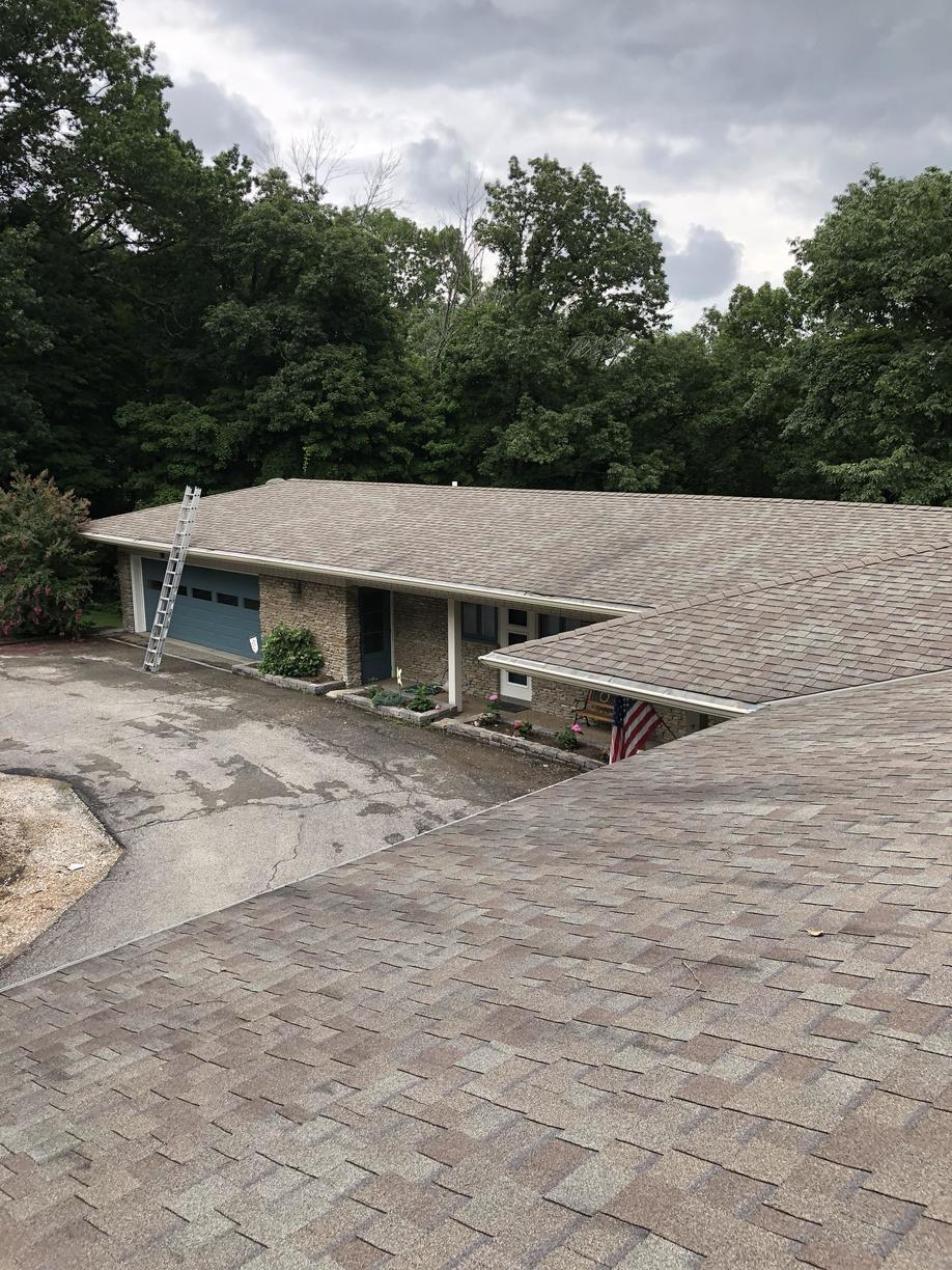 Roof Replacement of Madison Home Heavily Damaged by Hail Storm - Before Photo