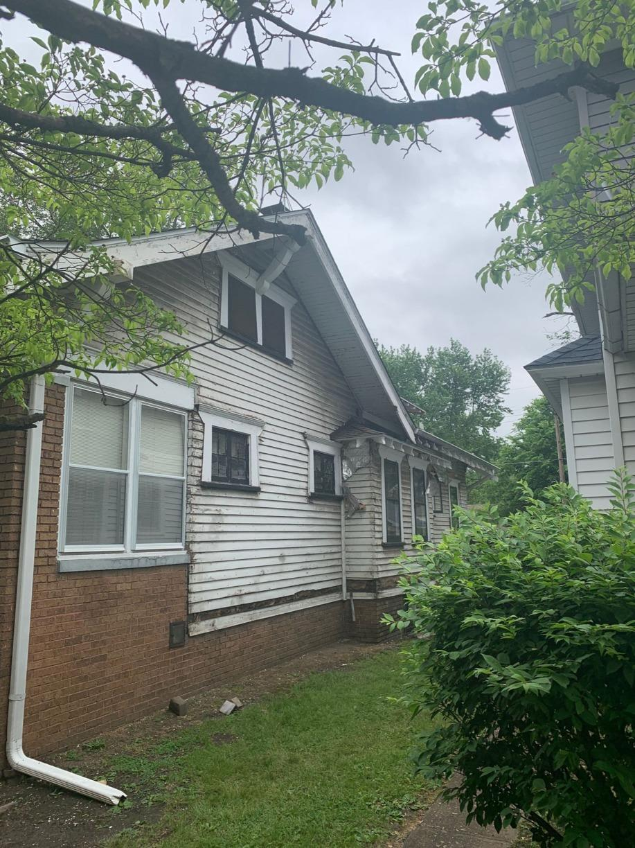 Major Transformation with Siding Replacement in Terre Haute - Before Photo