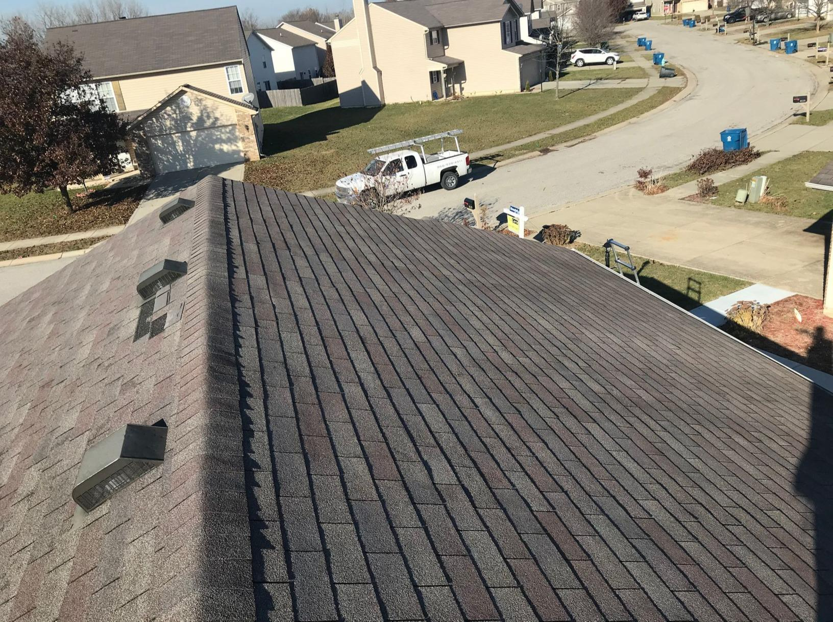 Wind Damaged Shingle Roof in Indianapolis, IN - Before Photo