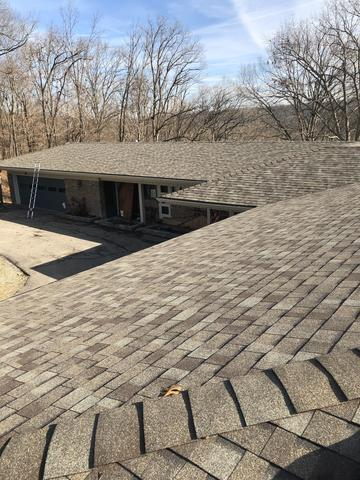 Roof Replacement of Madison Home Heavily Damaged by Hail Storm - After Photo
