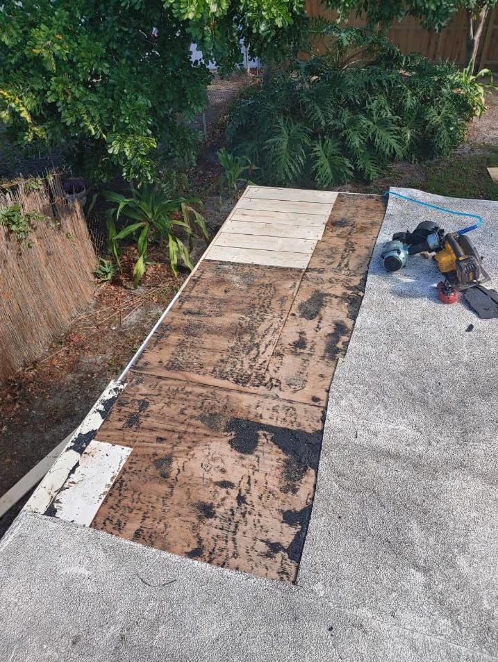 Flat Roof Repair Seminole, FL - Before Photo